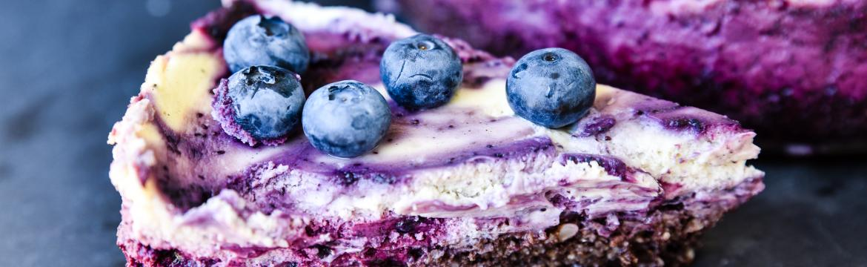Letní borůvkový cheesecake