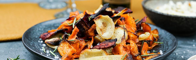 Zeleninové chipsy s dipem z gorgonzoly