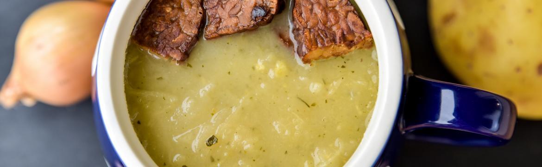 Zelná polévka s bramborovým pyré
