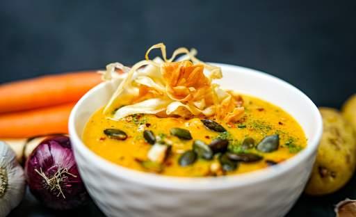 Krémová polévka z pečené zeleniny