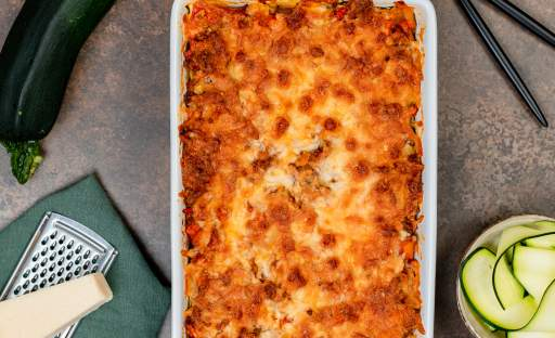 Cuketové lasagne s hovězím masem