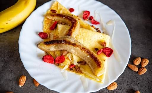 Palačinky s pečeným banánem