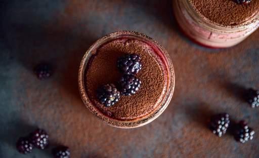Čokoládový termix s ostružinami