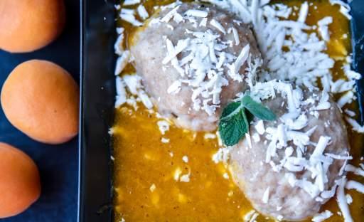 Špaldové meruňkové knedlíky