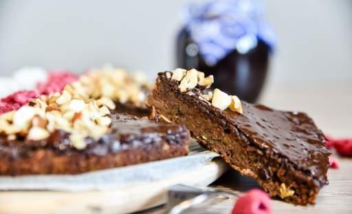 Cuketový perník s čokoládovou polevou