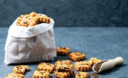 Parmazánové sušenky s kmínem