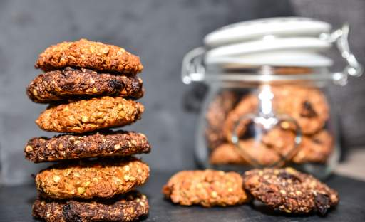 Ovesno-ořechové sušenky s pohankou