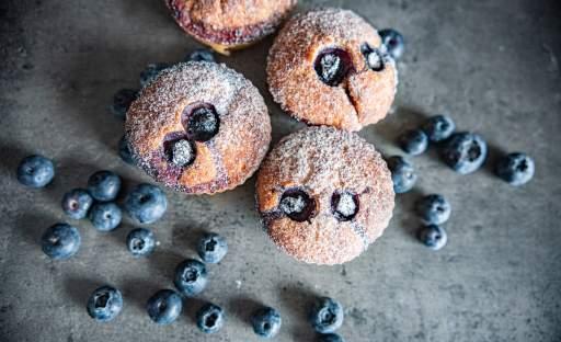 Kefírové muffiny s borůvkami